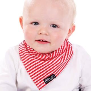 【skibz】紅格子時尚經典口水巾圍兜