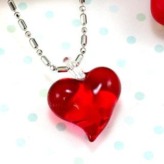 【伊飾童話】紅璃情深*心型玻璃項鍊