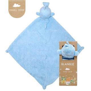 【美國 Angel Dear】動物嬰兒安撫巾(藍色鯨魚)