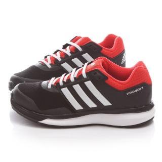 【Adidas】中大童 復古運動跑鞋(B26756-黑紅)