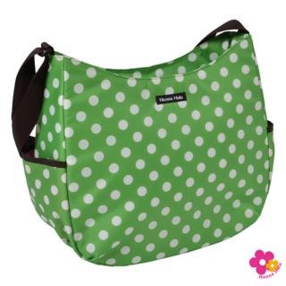 【日本Hanna Hula】V型斜背包/媽媽包(圓點綠)