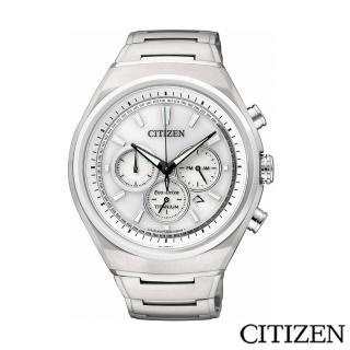 【CITIZEN 星辰】Eco-Drive 超級鈦三眼計時腕錶(CA4021-51A)