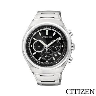 【CITIZEN 星辰】超級鈦三眼計時腕錶(CA4021-51E)