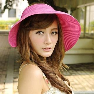 【Lady c.c.】收納輕巧蝴蝶結遮陽帽(桃)