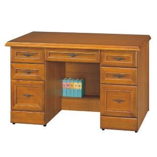 【Bernice】4.5尺實木樟木色辦公桌