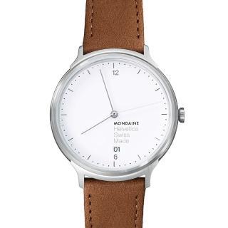 【MONDAINE瑞士國鐵】設計系列腕錶(白/38mm)