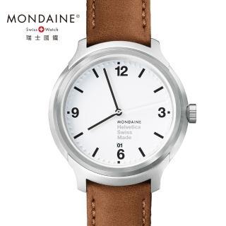 【MONDAINE瑞士國鐵】設計系列腕錶(白/43mm)