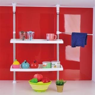 【ikloo宜酷屋】不鏽鋼小頂天廚房雙層置物架