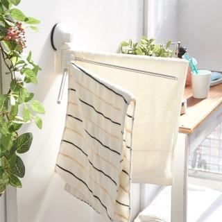 【ikloo宜酷屋】TACO無痕吸盤系列-180度旋轉毛巾桿