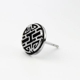 【ART64】囍字 純銀耳環(現代中國風)