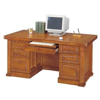 【Bernice】小葉樟實木5尺電腦辦公桌