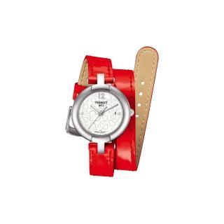 【TISSOT】Pinky 戀人絮語真鑽腕錶-珍珠貝x紅(T0842101611700)