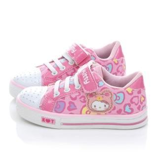 【三麗鷗】Hello Kitty中大童水鑽愛心甜美帆布鞋(714876-粉)