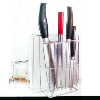 晶饌不銹鋼菜刀砧板架-2入組