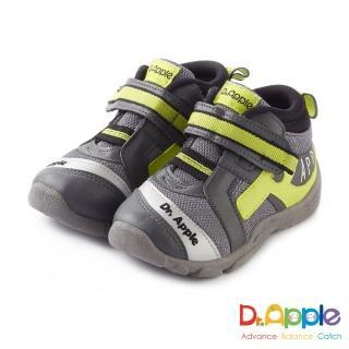 【Dr. Apple 機能童鞋】MIT字母流線剪裁閃亮童鞋(灰)