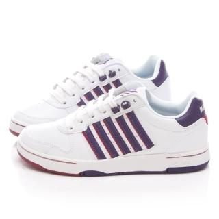 【K-SWISS】女款 JACKSON 時尚休閒鞋(93360-191-白紫)