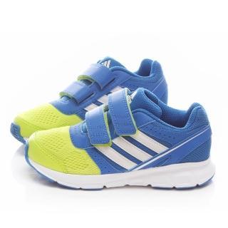 【Adidas】中大童 魔鬼氈輕量運動鞋(B40997-藍黃)