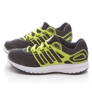 【Adidas】大童 輕量運動跑鞋(B26510-黑黃)