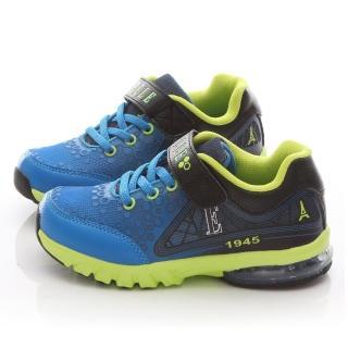 【ELLE】中大童 輕量機能氣墊運動鞋(ELKR50036-藍黑)