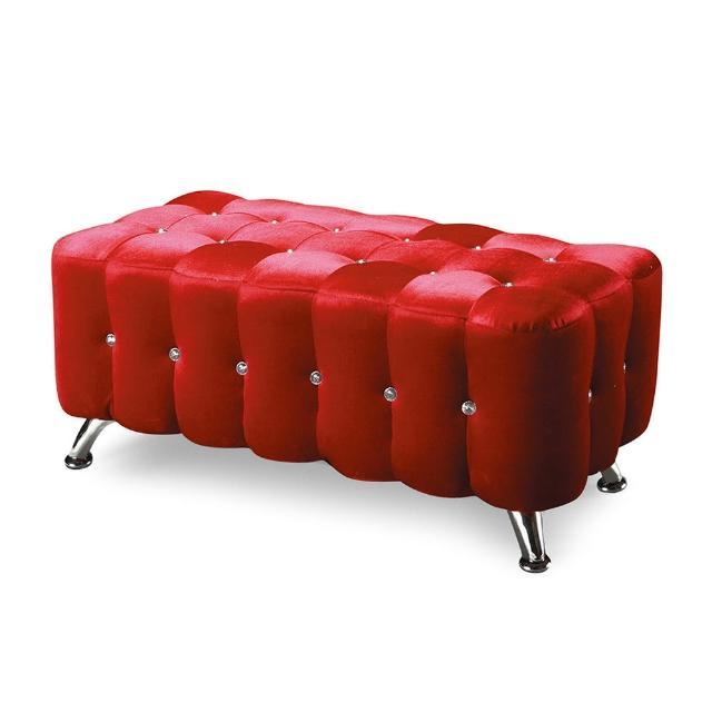 【Bernice】水鑽長椅3尺(三色可選)