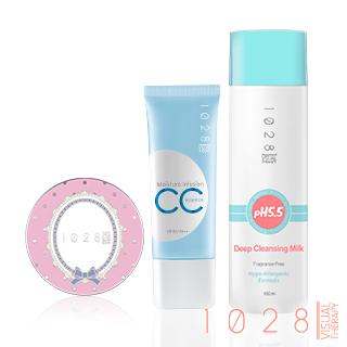 【1028】全效保濕CC精華霜SPF30 PA++ +超吸油蜜粉餅+卸妝乳mini