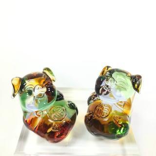 【琉璃藝術大師-黃安福】福豬/祝福 手工琉璃製作(創藝工坊 琉璃藝術 手工熱塑)