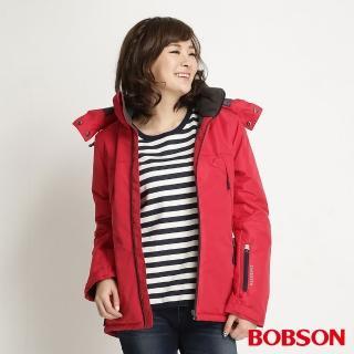 【BOBSON】女款鋪棉防風透氣外套(紅34115-13)