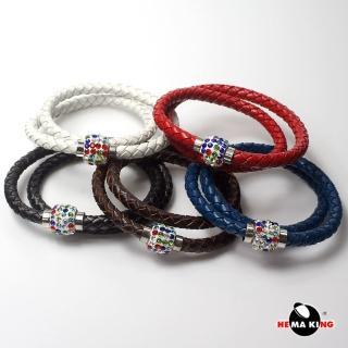 【HEMAKING】彩鑽皮繩編織手鍊