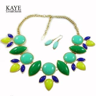 【Kaye歐美流行飾品】精靈系清新森林葉片項鍊耳環組