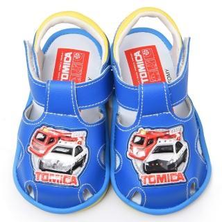 【童鞋城堡】Tomica多美小汽車 學步嗶嗶BB涼鞋(TM3629-藍)