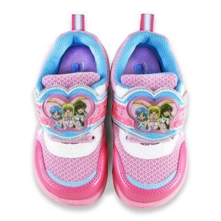 【童鞋城堡】真珠美人魚 中童 透氣LED電燈運動鞋(PI5888-粉)