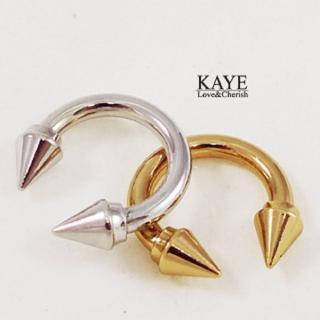 【Kaye歐美流行飾品】鉚釘開口戒指