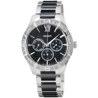 【ORIENT】東方錶CASUAL陶瓷石英女錶-黑(FSW01003B)