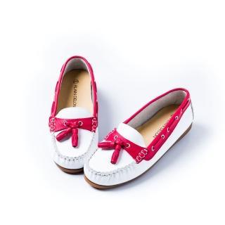 【ALAIN DELON】完美舒適百搭豆豆鞋W7525(2色 紅色 藍色)
