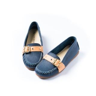 【ALAIN DELON】完美舒適百搭豆豆鞋W7528(3色 桃紅色 藍色 黃色)