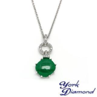 【約克鑽石】古典風情天然鐵龍生方晶鋯石(純銀包銠金項鍊)