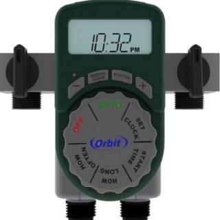 【灑水達人】美國ORBIT四區段自動定時灑水器一進四出含兩個閥門(綠)