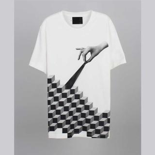 【摩達客】韓國進口EXO合作設計品牌DBSW Cube Leak立方體白色(純棉短T短袖T恤時尚潮T)