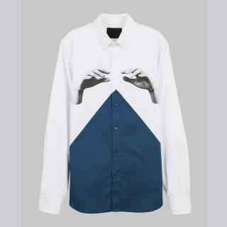 【摩達客】韓國進口EXO合作設計品牌DBSW Color Composer組色者白藍綠(純棉修身長袖襯衫)