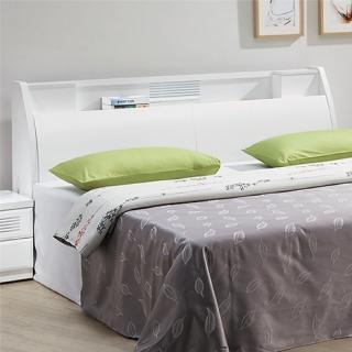 【綠活居】皮克斯  5尺白色雙人床頭箱