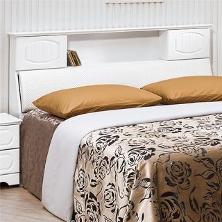 【綠活居】羅珈爾  法式 5尺白色雙人床頭箱