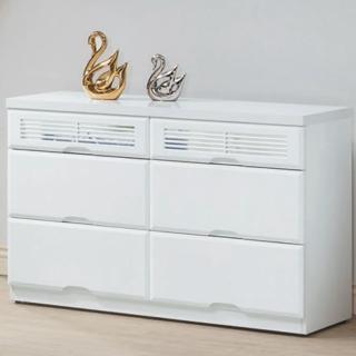 【綠活居】皮克斯  白色4尺六斗櫃