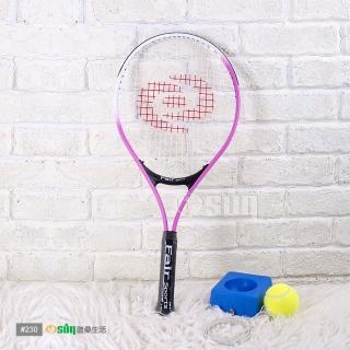 【Osun】FS-T230兒童網球拍+硬式網球練習台(粉紅白CE-185G_A)