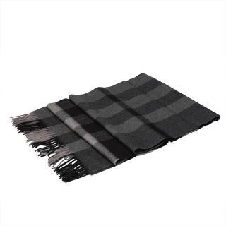 【BURBERRY】方格紋喀什米爾羊毛披肩/圍巾 深木炭灰(37667701-DARK-CHA-CHE)