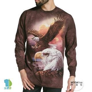 【摩達客】美國進口The Mountain 鷹與雲 純棉長袖T恤(現貨)