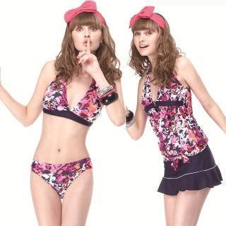 【SAIN SOU】大女比基尼四件式泳裝(附泳帽A94403)