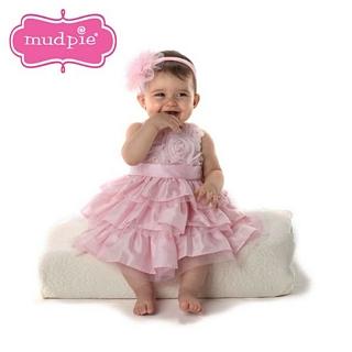 【Mud Pie】粉紅玫瑰雪紡無袖洋裝 #176089