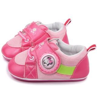 【童鞋城堡】Disney迪士尼 米妮電燈學步寶寶鞋(443216-粉)