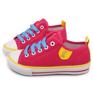 【童鞋城堡】Roberta 專櫃經典素面帆布鞋(613726-桃)