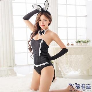 【久慕雅黛】性感連體兔兔女郎睡衣4件套 情趣激情兔女郎內衣誘惑